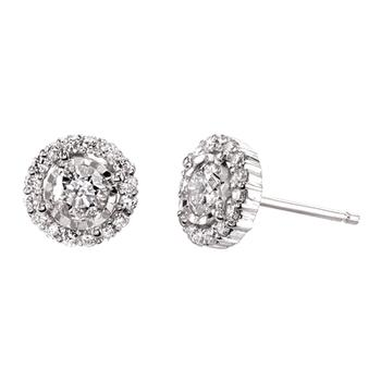 Miracle Mark diamond halo earrings