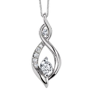 Sirena free form diamond pendant