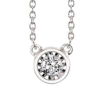 Miracle Mark  diamond bezel pendant