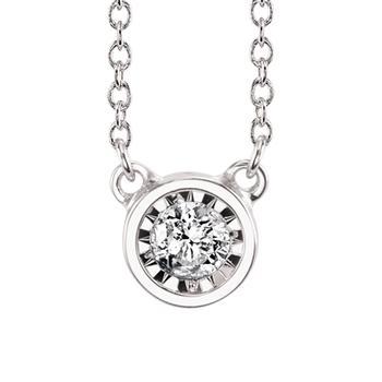 Miracle Mark  diamond bezel pendant