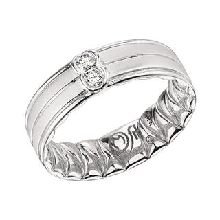 Men's white gold diamond Mfit wedding band