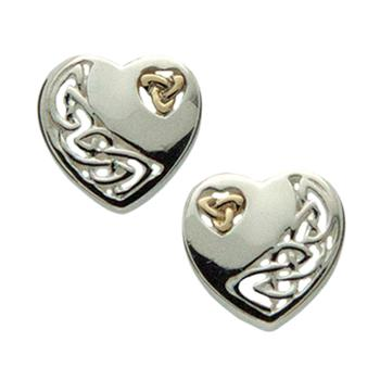 Keith Jack Celtic heart earrings