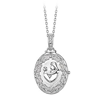 Sterling silver Mother and child locket