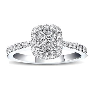 White gold Love Cut diamond engagement ring