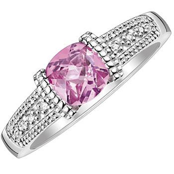 Platina4  pink sapphire ring