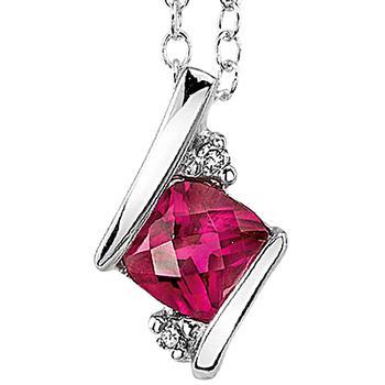 Platina4  pendant with ruby & diamonds