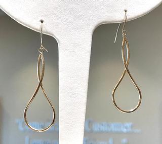 Yellow gold freeform earrings
