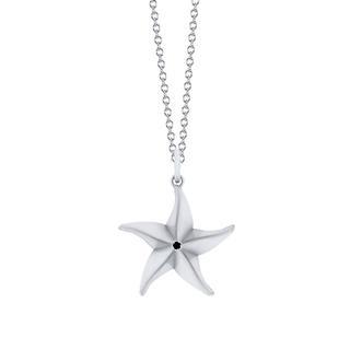 Sterling silver origami starfish pendant