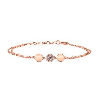 Diamond pave bracelet in yellow gold