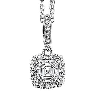 Sterling silver diamonore pendant