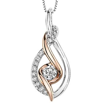 Sirena rose gold and diamond pendant