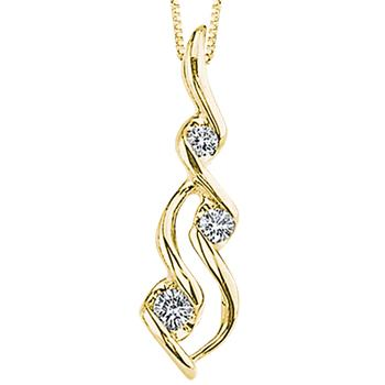 Sirena diamond waterfall pendant