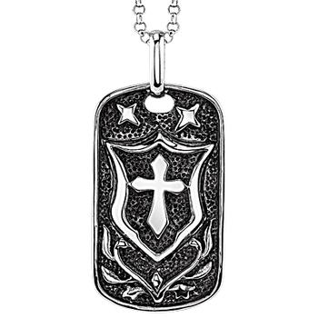 Men's stainless steel dog tag