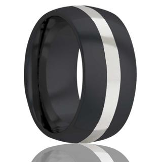 Men's zirconium wedding band