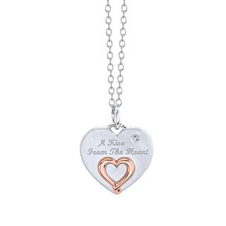 Sterling silver Kiss from the Heart pendant