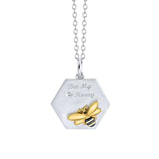 Sterling silver Bee My Honey pendant