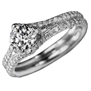 Meteor Cut diamond engangement ring