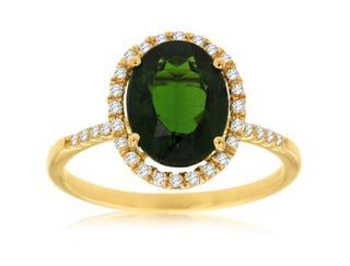Yellow gold Russalite and diamond ring
