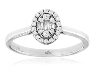 White gold fancy diamond ring