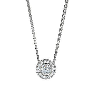 Sterling silver pendant with simulated diamonds