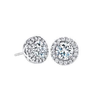White gold moissanite earrings