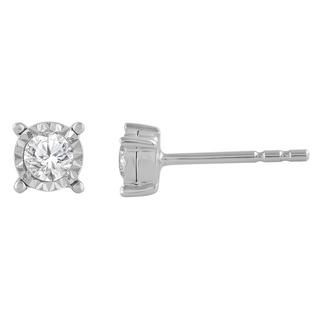 Miracle Mark diamond stud earrings in sterling silver