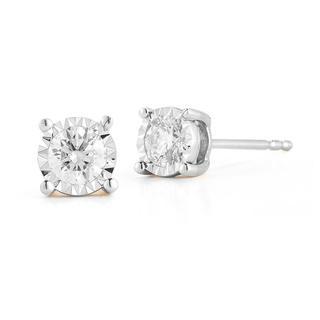 Miracle Mark diamond earrings in white gold