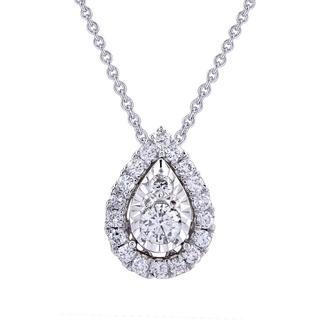 Miracle Mark pear shape diamond pendant