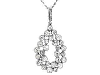 Diamond freeform oval pendant