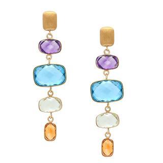 Amethyst, topaz and citrine earrings
