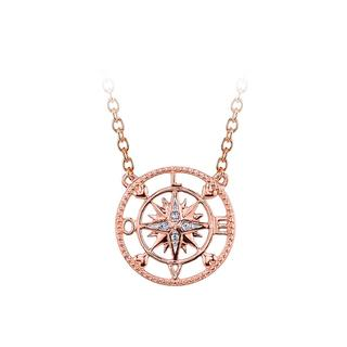 Pink plated sterling silver pendant