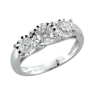 MIracle Mark three stone ring