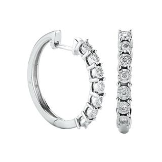 Miracle Mark diamond hoop earrings