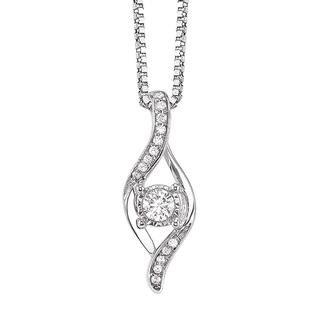 Miracle Mark sterling silver diamond pendant