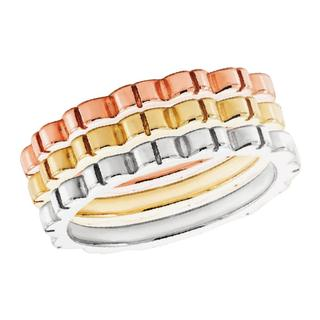 White gold grooved band