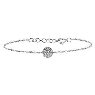 White gold bracelet with diamond circle