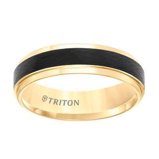 Men's two tone tungsten comfort fit band
