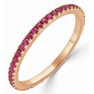 Rose gold ruby eternity band