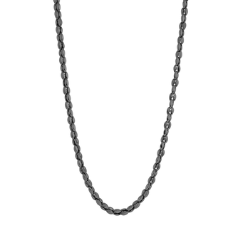 Stainless steel polished oval link chain