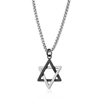 Black stainless steel Star of David pendant