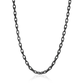 Brushed and polished stainless steel link chain