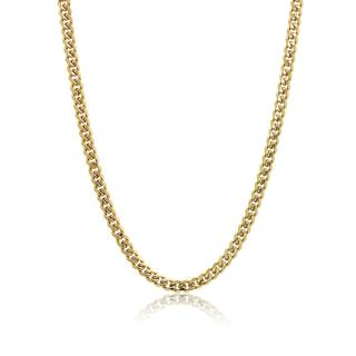Gold plated stainless steel link chain