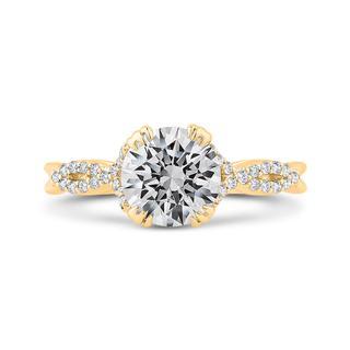 Diamond semi mount engagement ring in yellow gold