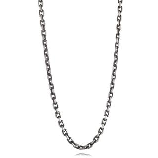 Black plated stainless steel oval link chain