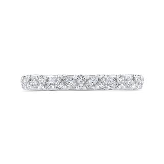 Diamond 18k white gold wedding band with marquise and rounds