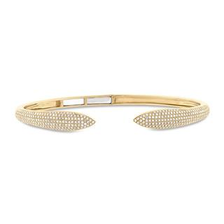 Yellow gold diamond pave braceleet