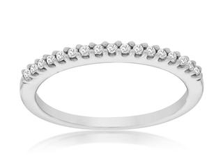 Narrow diamond wedding band