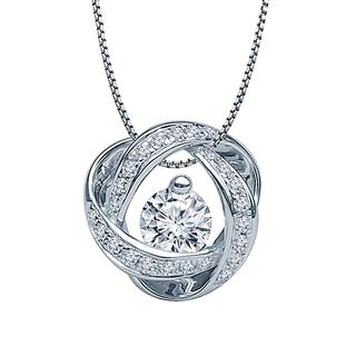 White gold and diamond eternity pendant
