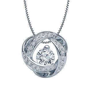 White gold and diamond eternity pendant