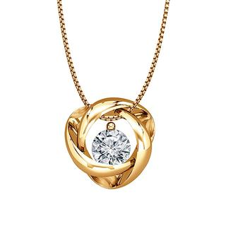 Gold diamond eternity pendant
